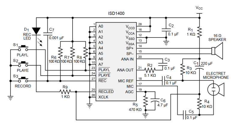 Figure 2: Example application circuit diagram