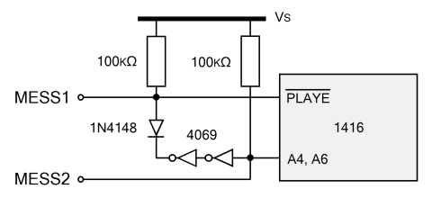 Figure 3: Additional components to allow two messages to be recorded