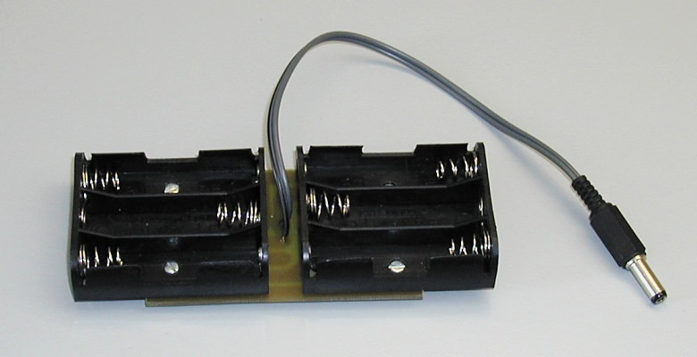 The battery boxes mounted on a PCB