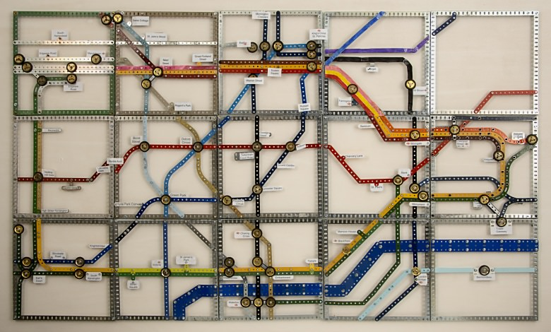 The completed London underground map
