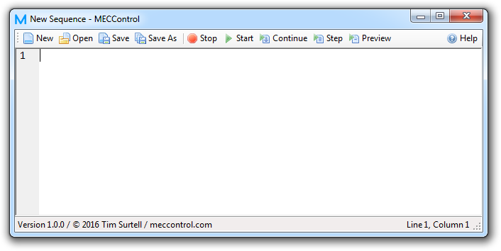 The MECControl software interface